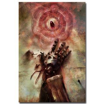 Аниме плакат гобелен шелковый Стальной алхимик в ассортименте 2