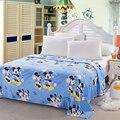 Têxteis para o lar, Azul criança Mickey dos desenhos animados cobertores de lã de coral para colchas roupas de cama pode ser como folha de cama