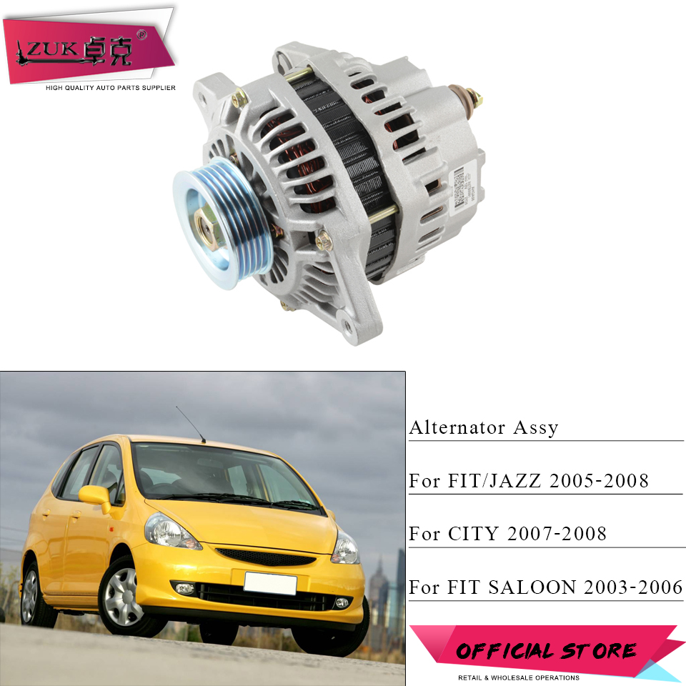 ZUK 12 V Auto alternateur Dynamo générateur courant alternatif pour HONDA FIT JAZZ CITY FIT berline 2003 2004 2005 2006 2007 2008
