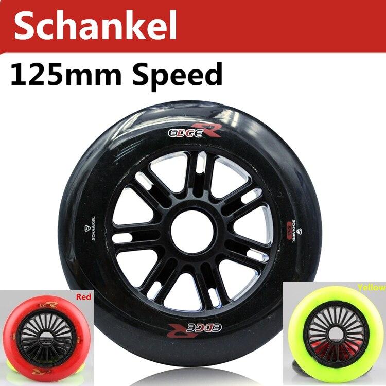 Prix pour 6 pcs/lote Schankel bord R 125 mm 85A roues de patinage de vitesse EdgeR vitesse de roue de Skate qil - neuf ILQ-11 entretoise de roulement sélective