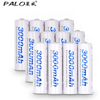 12 Pcs AA Battery Batteries 1 2V Aa 3000mAh Ni MH Pre Charged Rechargeable Battery 2A