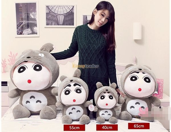 Fancytrader 31\'\' 78cm Giant  Funny Stuffed Soft Plush Totoro Crayon Shin-chan, Free Shipping FT50395 (7)