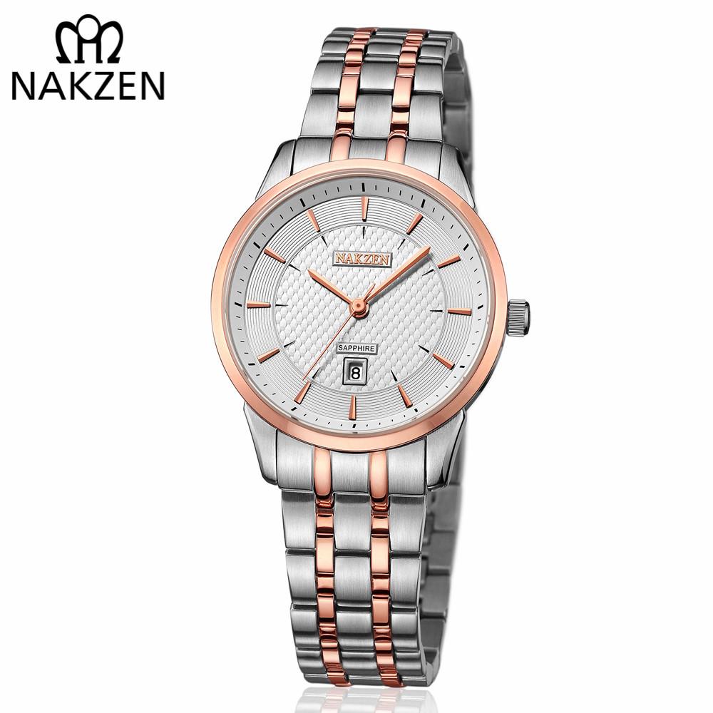 NAKZEN Top Luxury Brand Women Quartz Watch Lady Girl Waterproof Fashion Wrist Watches Female Diamond Bracelet Clock montre femme fashion women watches women crystal stainless steel analog quartz wrist watch bracelet luxury brand female montre femme hotting