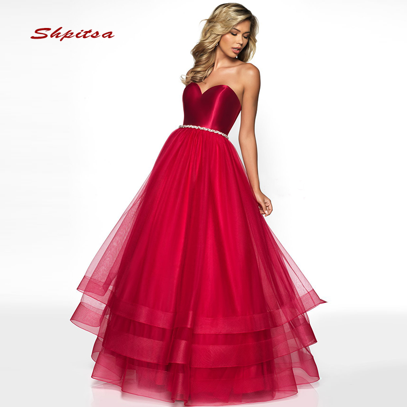 Sexy longues robes de soirée partie grande taille rouge chérie belles dames femmes bal robes de soirée formelles robes