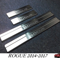 For Nissan ROGUE 2014 2017 Stainless Steel Door Sill Scuff Plate Door Running Board for Rogue 2016