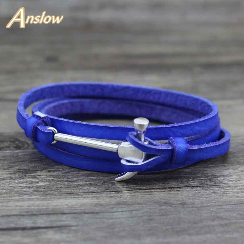 Anslow 2017 New Items Hammer Creative Leather Bracelet Wholesale Cheap Price Women Men Jewelry Gift Free Shipping LOW0366LB