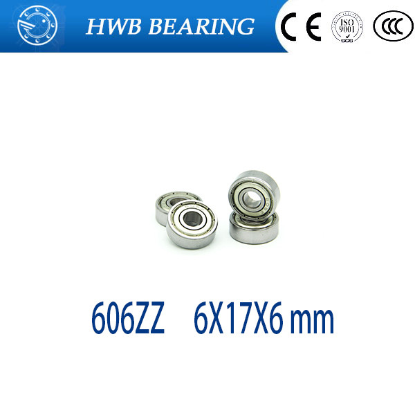 Free Shipping 606ZZ 606 ZZ 6x17x6mm radial shaft  Deep groove ball bearing for 6mm shaft free shipping 20pcs mr83zz miniature bearings ball bearing 3x8x3 mm 3 8 3 mr83 zz radial shaft