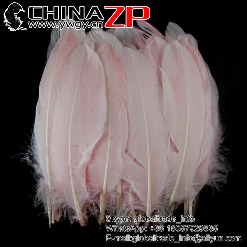Gold Supplier CHINAZP Factory 200pieces/lot Selected Top Quality Dyed Lavender Goose Feathers