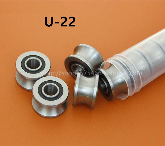 20pcs/lot   U22  8mm U groove pulley bearings U-22  8x22.5x14.5x13.5 mm V / U groove roller wheel ball bearing TU22 quercetti бегущие шарики