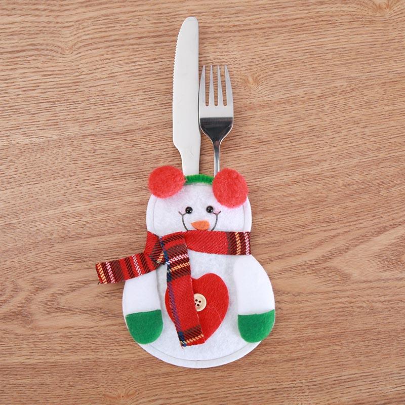 Шляпа Санты, олень, Рождество, Год, карманная вилка, нож, столовые приборы, держатель, сумка для дома, вечерние украшения стола, ужина, столовые приборы 62253 - Цвет: I