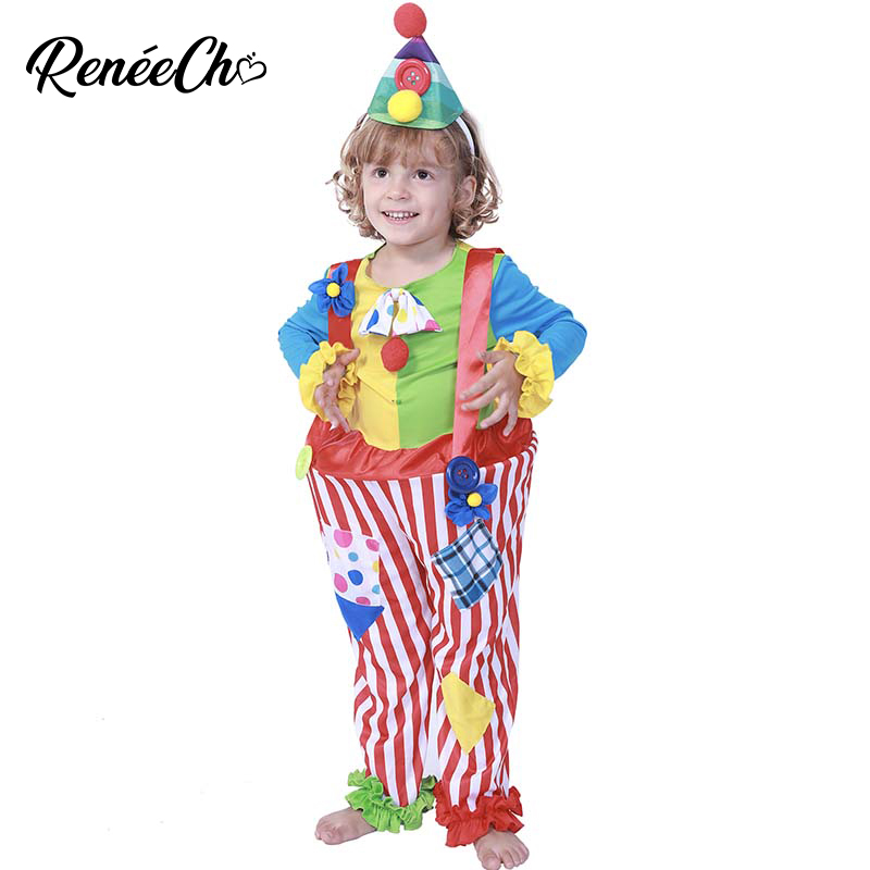 Funny Kids Halloween Costumes.Us 19 66 35 Off Halloween Costume For Kids Karnaval Costum Kid Boy Kids Clown Costume Cute Funny Child Kostum Halloween For Magic Performance On