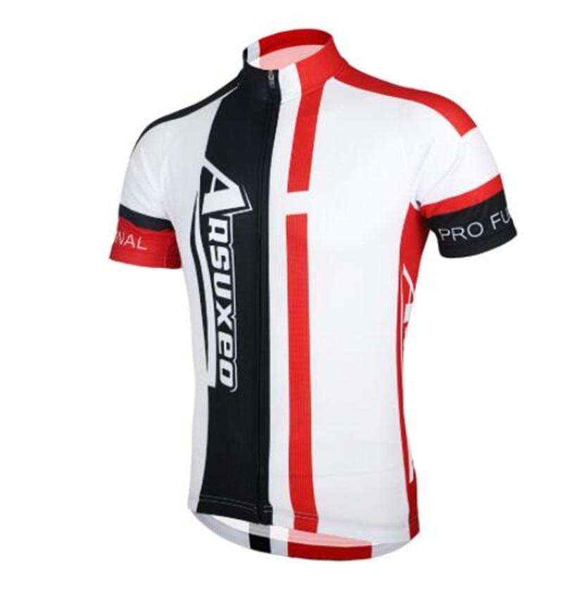 ARSUXEO Men 39 s Summer Short Sleeve Cycling Jersey MTB Bike Bicycle Printing Shirt Sportswear MTB Jersey Quick Dry Shirts in Cycling Jerseys from Sports amp Entertainment