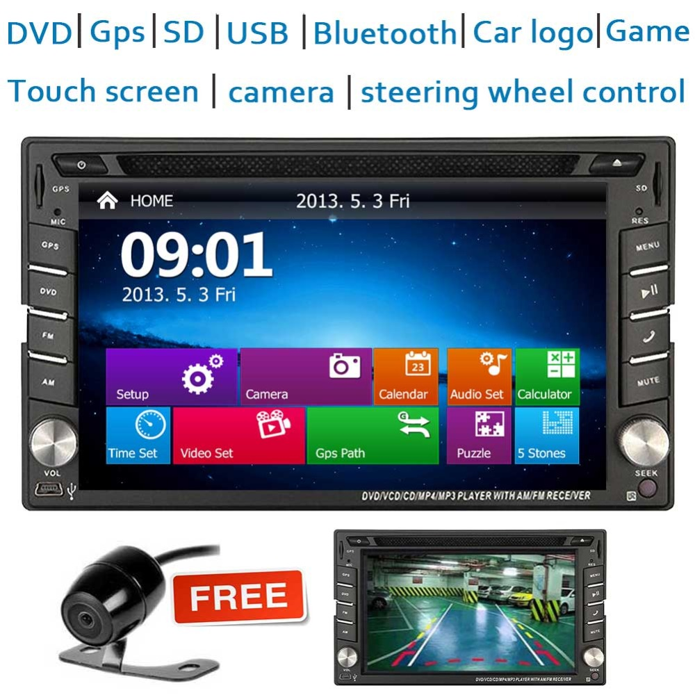 Car DVD CD Navigation Multimedia Player In Dash Double Din Car Radio GPS Navigation Support Wireless Bluetooth Music SWC FM/AM RCar DVD CD Navigation Multimedia Player In Dash Double Din Car Radio GPS Navigation Support Wireless Bluetooth Music SWC FM/AM R