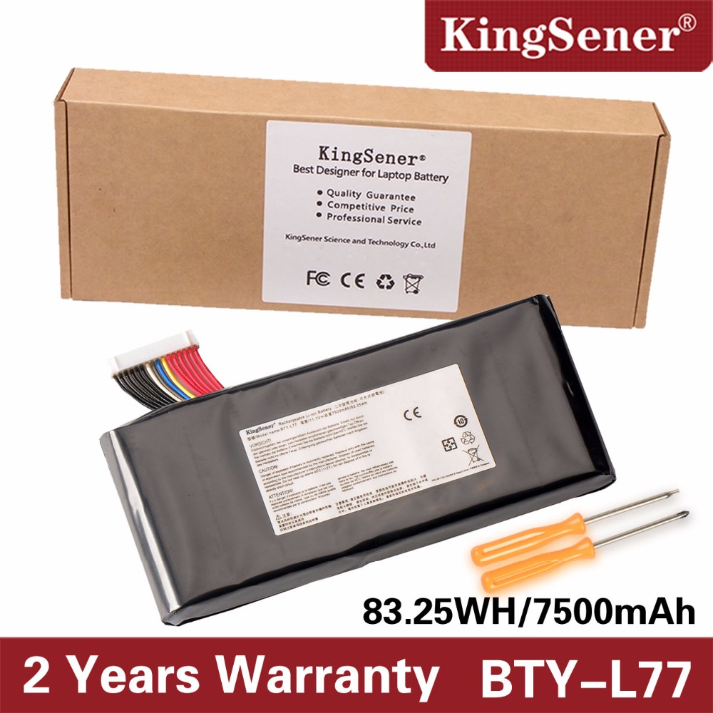 KingSener BTY-L77 Laptop Battery For MSI GT72 2QD GT72S 6QF GT80 2QE GT80S WT72 MS-1781 MS-1783 2PE-022CN 2QD-1019XCN 2QD-292XCN