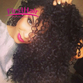 Brazilian Deep Curly With Closure 4 Bundles brazilian kinky curly virgin hair with closure Curly Weave Human Hair With Closure