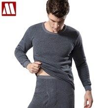 Trousers Undershirts Thermal-Underwear-Sets Long-Johns Men Winter Velvet Plus Warm O-Neck