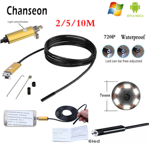 Chanseon Endoscope 7MM Lens Gold OTG USB Android Adapter HD Camera Inspection Borescope Phone Industrial Endoscopio Camera