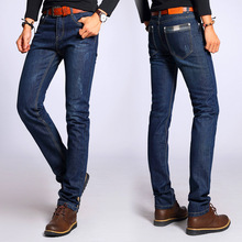2019 Jeans For Mens Slim Fit Pants Classic Jeans Male Denim Jeans Designer Trousers Casual Skinny Mens Straight Elasticity Pants 2016 mens jeans boot cut leg slightly flared slim fit nostalgic blue male jeans designer classic denim jeans