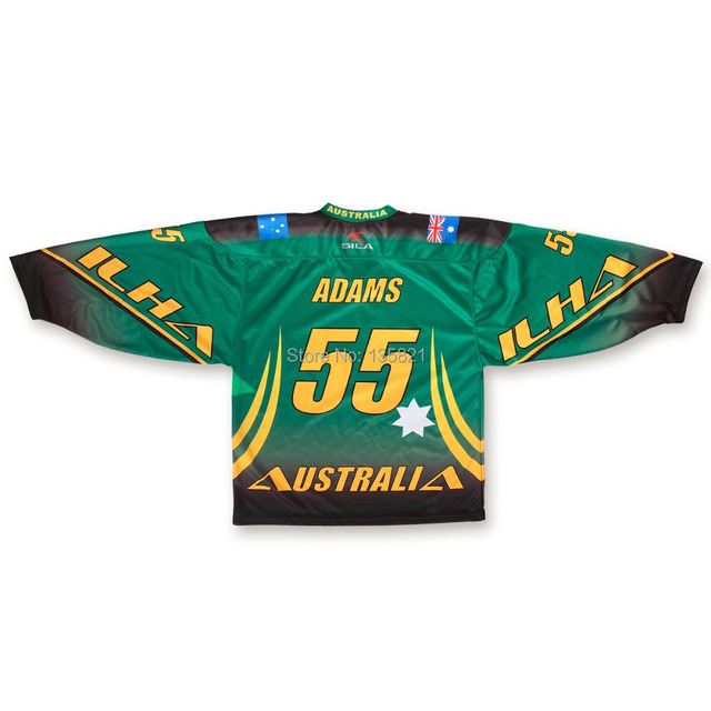 Custom your own design sublimation Hockey Jersey 242aab45b31