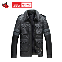 HEROBIKER Retro Classic Motorcycle Jacket Mens Spring Autumn Leather Moto Jacket Motocross Clothing