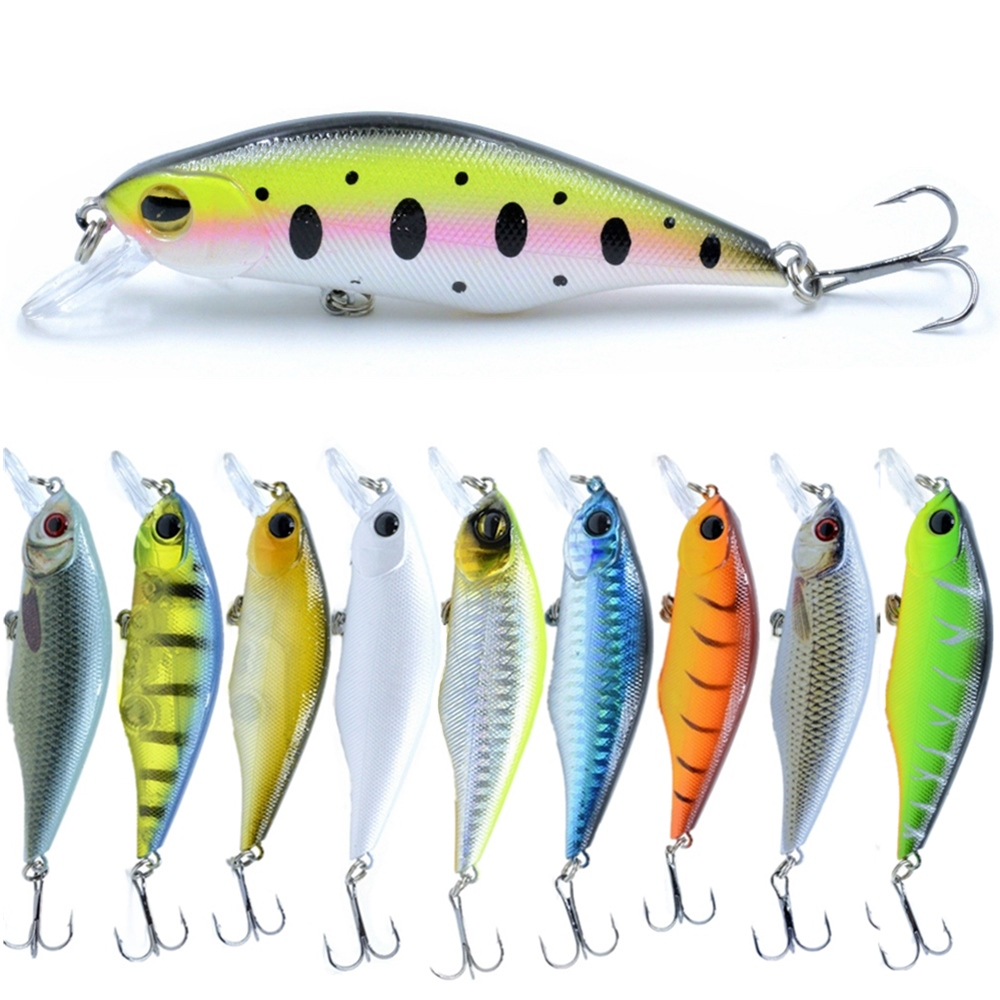 POETRYYI Minnow Fishing Lures 90mm 11g Crankbait Top water lure isca artificial fishing Wobblers pike fishing lures fake lure