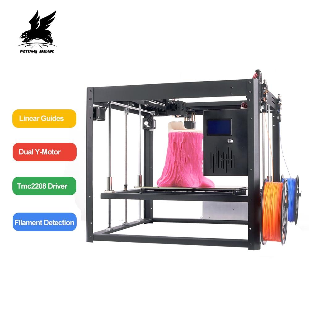 Flyingbear Tornado 2 grandes 3d de bricolaje impresora de metal completo de carril lineal 3d Kit de impresora de precisión de alta calidad doble extrusora