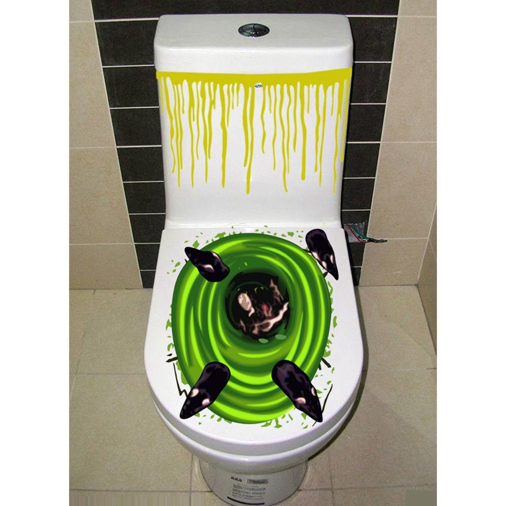 Stortbak Toilet Us 8 82 Redcolorful Halloween Gruwelijke Badkamer Wc Bril Deksel En Stortbak Sticker Closestool Cover Party Decoration 40 In Redcolorful Halloween
