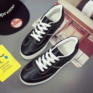 Image 4 - ฤดูร้อนรองเท้าผ้าใบสีขาวรองเท้าแพลตฟอร์มตะกร้าFemmeความสูงสุภาพสตรีรอบToeหญิงTenis Femininoสีดำ44