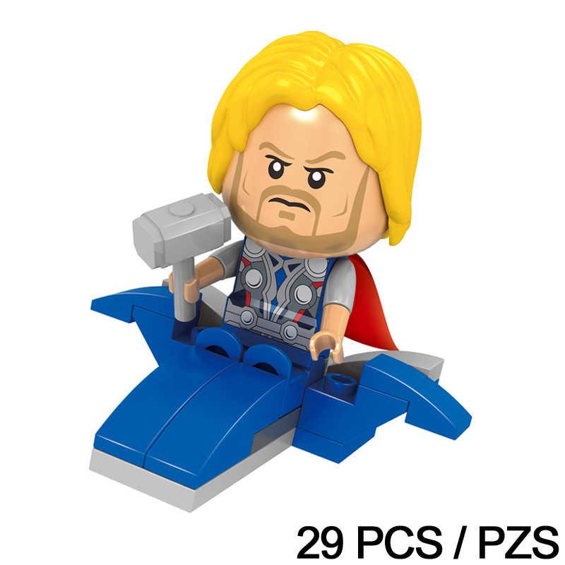 Большая голова Мстители, Халк, фигурка, Q версия, супер герои, Marvel, одиночная распродажа, Тор, соколиный глаз, строительные блоки, кирпичи, игрушки для детей