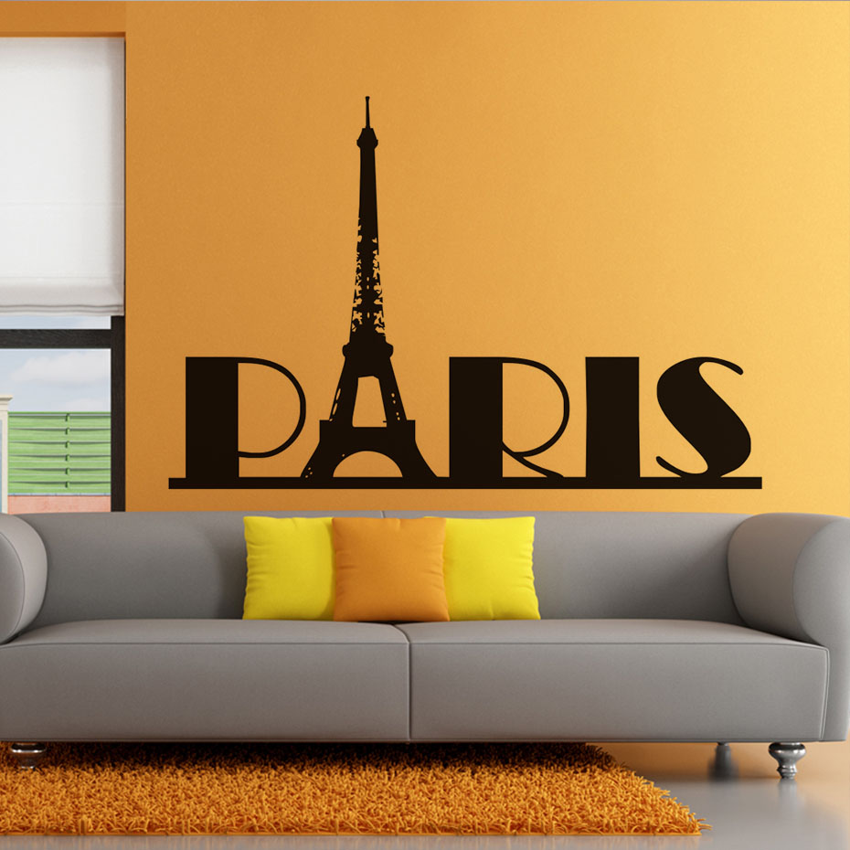 இMarco Popular Torre Eiffel Paris Adesivos de Parede Sala de estar ...