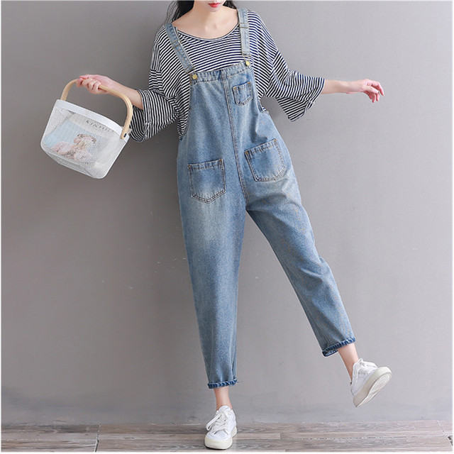 fc669abc84e6 Denim Jumpsuit Women Denim Jeans Pants Suspender Vintage Casual Trousers  Pockets Tassel Women s Jeans Rompers Overalls