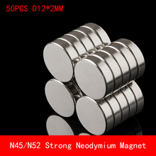 50pcs N45 N52 Neodymium magnet 12x2 Rare Earth small Strong Round permanent 12*2mm fridge Electromagnet nickle magnetic DISC цена