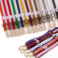 Genuine Leather Shoulder strap bag accessories,Replacement Shoulder Straps for handbags/purses Gold buckle 130*1.2cm