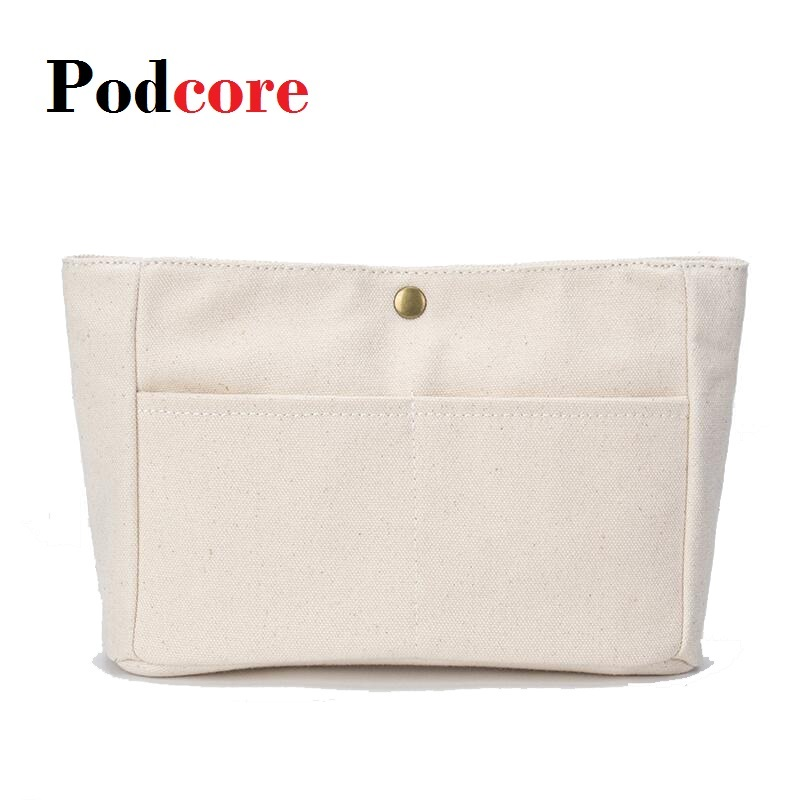 Canvas Purse Organizer Bag Small Cosmetic Bag Sturdy Purse Insert Organizer Bag In Bags