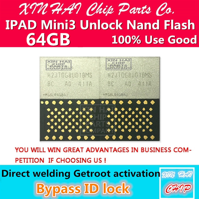 US $42 0 |Unlocked for ipad mini3 nand with hidden serial number,for mini3  nand flash hdd chip 64GB bypass icloud and expanding memory-in Mobile Phone