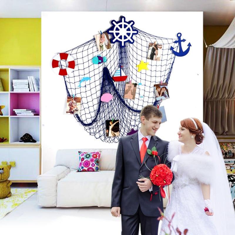 Ourwarm 200cm Diy Fishing Net Creative Nautical Wedding Decorations Sea Anchor Wheel Ornaments Wall Beach Wedding Home Decor Decor Diy Decorative Decorativedecorative Home Decor Aliexpress