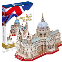 107PCS Saint Pual s Cathedral New 3D Puzzle DIY Jigsaw Assembly Model Building Set Architecture Creative