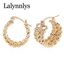 Lalynnlys золотой большой круг обруч серьги для женщин девочек металлические геометрические круглые серьги панк специальное ювелирное изделие E48141