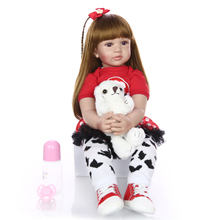 KEIUMI Soft Silicone Reborn Baby Doll Toy 24 Inch 60cm Vinyl Princess Toddler Baby Girl Doll Birthday Gift Realistic Alive Baby