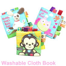 1pc Baby Quiet Cloth Books for Children's Learning Resources Kids Book Boys Girls Educational Toddler Toys Skip Zoo English DS19 недорого