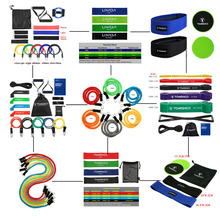 TOMSHOO Fitness Rubber Bands Pull Up Rope Elastic Bands for Fitness Exercise Gym Yoga Workout Elastic Strength Training Expander