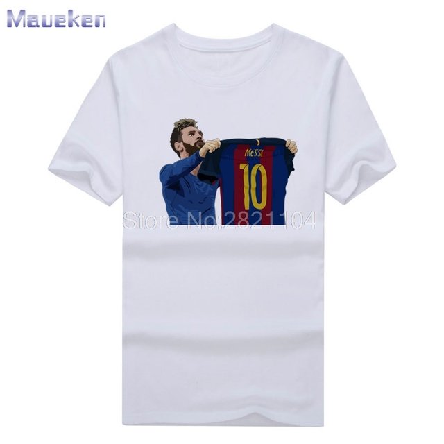 8f623b5e13b1 2017 new design Men's Barcelona Lionel Messi 500 Goals tee T Shirt Men 100% cotton  T-shirts for fans gift 0429-6