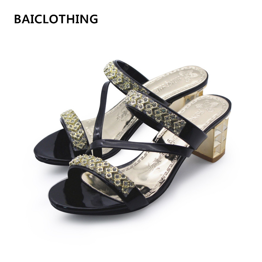 BAICLOTHING sandalias de mujer teenager girl cute slip on spring and summer sandals women sexy high