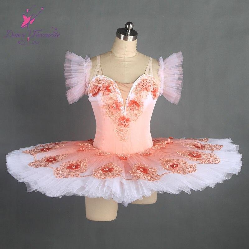 amazing pink professional dance costume ballet tutu ballerina classical pancake tutu girl & women customer size ballet tutu