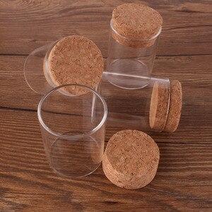 Image 3 - Tubo de ensayo con tapón de corcho, botellas de especias, jarras de contenedores, viales para manualidades, bricolaje, 12 Uds., 50ml, tamaño 47x60mm