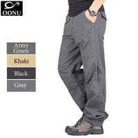 OONU NEW 30-40 High Quality Men's Camouflage fashion Army Multi Cargo men pants Casual military Overalls Outdoors Long Trousers