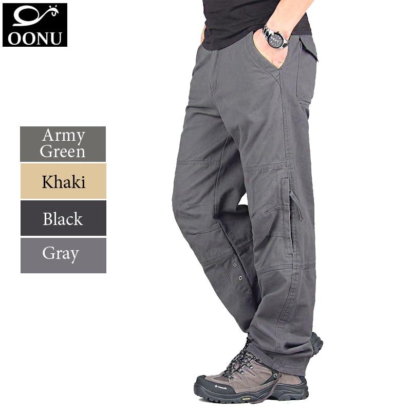 9b35ffa014 YOLAO NOWY 30-40 Wysokiej Jakości moda męska Kamuflaż Armia Wielu Cargo men Casual  spodnie wojskowe Kombinezony Zewnątrz długie Spodnie