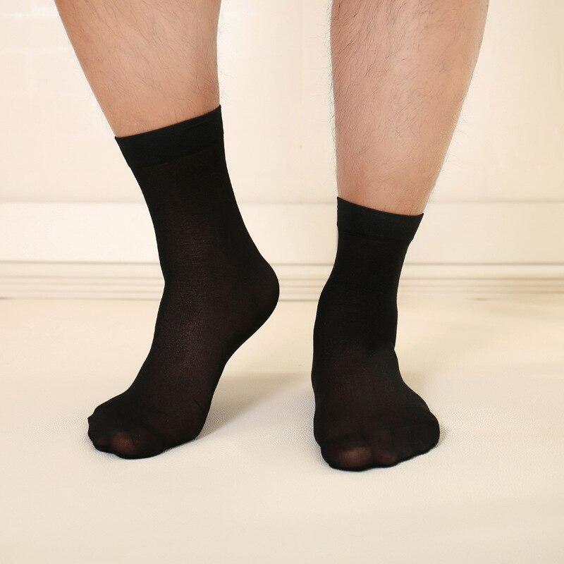 Summer thin business casual mens silk socks Solid color wild men socks 10pair/lot Good elasticity