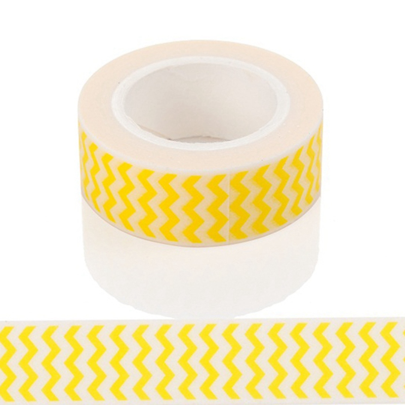 10m*15mm Creative Yellow Waves Washi Tape DIY Decoration Scrapbooking Planner Masking Tape Kawaii Stationery Adhesive Tape 1 PCS