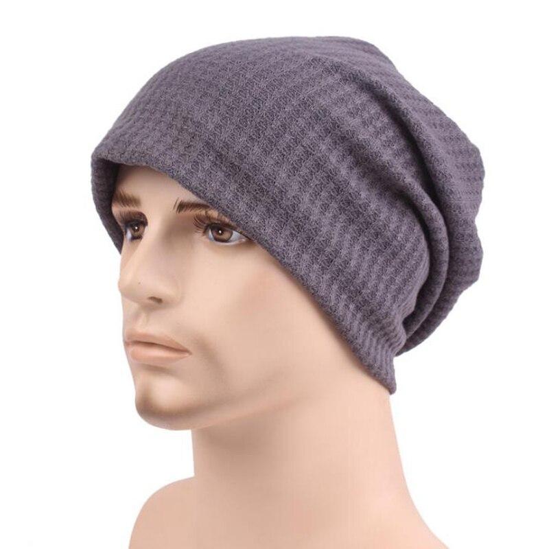New Fashion Winter Beanie Hat Knit Winter Hat For Men Warm Bonnet Hats with Velvet inside men's wool hat
